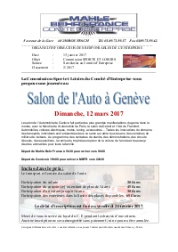 Cftc mahle behr france rouffach for Salon de l auto geneve 2017 billetterie